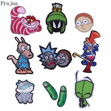 Prajna Rick And Morty Iron On Patches For Kids Clothes Cartoon Animal Applique Patch Badge Apparel Decor Stickers DIY E