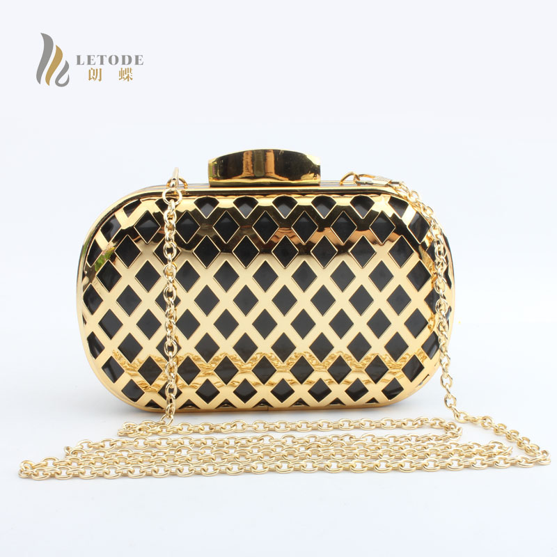 Womens Fashion Handbags PU Metal Evening Clutch Bag Day Clutches Party Shoulder Bag Messenger & Crossbody Bags Bridal Purses