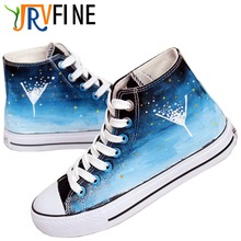 YJRVFINE Time Hourglass Unisex High Top Men Casual Luxury Brand Breathable Walking Shoes Comfortable Hand painted Shoes R1038M