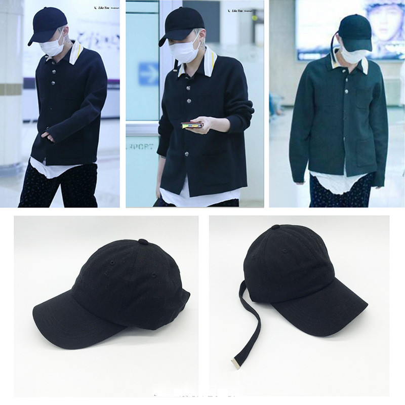 Youpop KPOP BIGBANG GD Album Hat 2016 K-POP New Fashion Design Classic Black Sport Baseball Cap Hip-hop Cap XHM141 блуза stylove stylove st054ewazan9