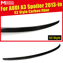Fit For Audi A3 A3Q High-quality Rear Spoiler Tail A3 S3 Style Coupe Carbon Fiber Rear Spoiler Rear Trunk Wing car styling 2013+ a3 rear trunk spoiler wing lip small aev style carbon fiber for a3 a3q auto air rear trunk spoiler tail wing car styling 2013 in