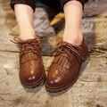 2016 весной ребенок мокасины мода старинные кисточкой свободного покроя ребенок мужского пола кожи ребенка одного женские туфли