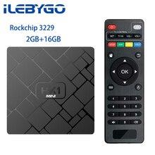 Ilebygo Android 8,1 ТВ контейнер под элемент питания 2 Гб оперативной памяти, 16 Гб встроенной памяти, с двумя камерами, процессор Rockchip RK3229 4 ядра 2,4G, Wi-Fi, H.265 4 K HD проигрыватель Google Smart Box HK1mini комплект компьютерной приставки к телевизору