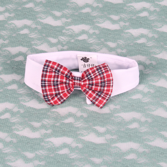 Fancy Plaid Dog Tie Pet Supplies Cat Dog Bowtie Wedding Accessories Collar Holiday Grooming Products bow tie cat collar 15S3