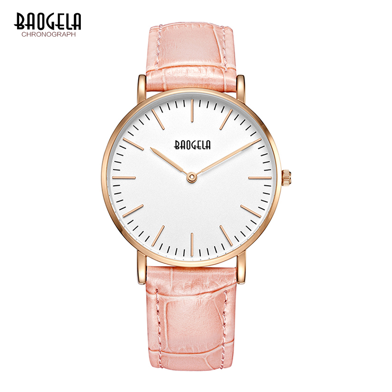 Baogela Women Watches Leather Brand Fashion Quartz Watch Women's Wristwatch Relojes Mujer Dress Ladies Business Montre Femme tezer ladies fashion quartz watch women leather casual dress watches rose gold crystal relojes mujer montre femme ab2004
