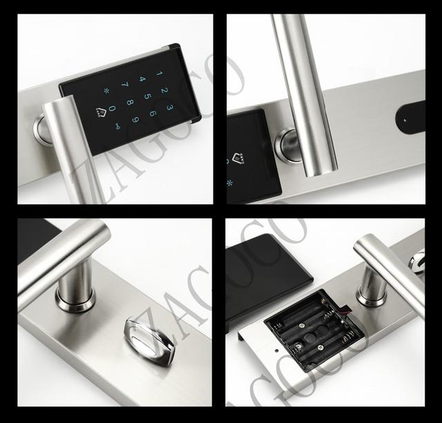 Electronic Security Touch Keypad Password Door Lock Smart Digital Electronic Combination Password Lock Door For Home Office