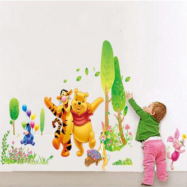 winnie pooh beb home etiquetas de la pared pegatinas de dibujos animados para nios habitacin del
