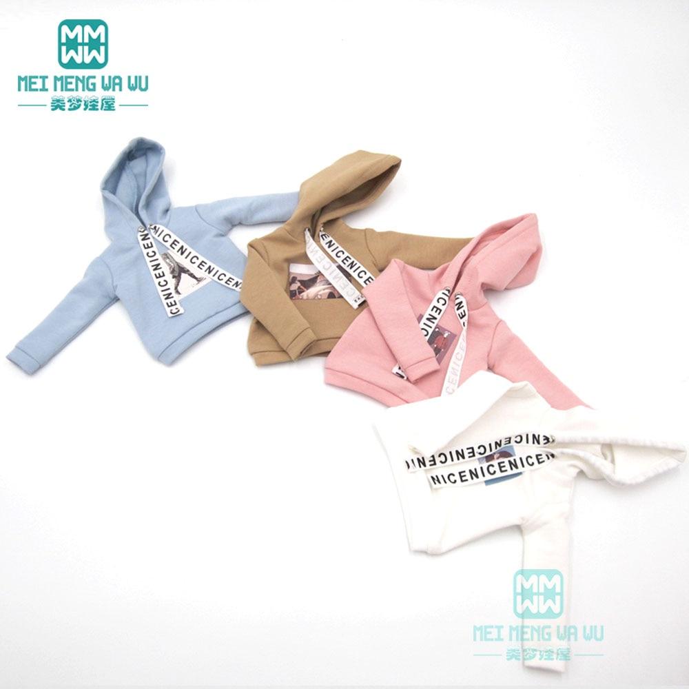 BJD Accessories Doll Clothes Fashion Casual Sweatshirt  Jacket With Hat For 27cm--30cm 1/6 BJD SD DD MSD YOSD Doll