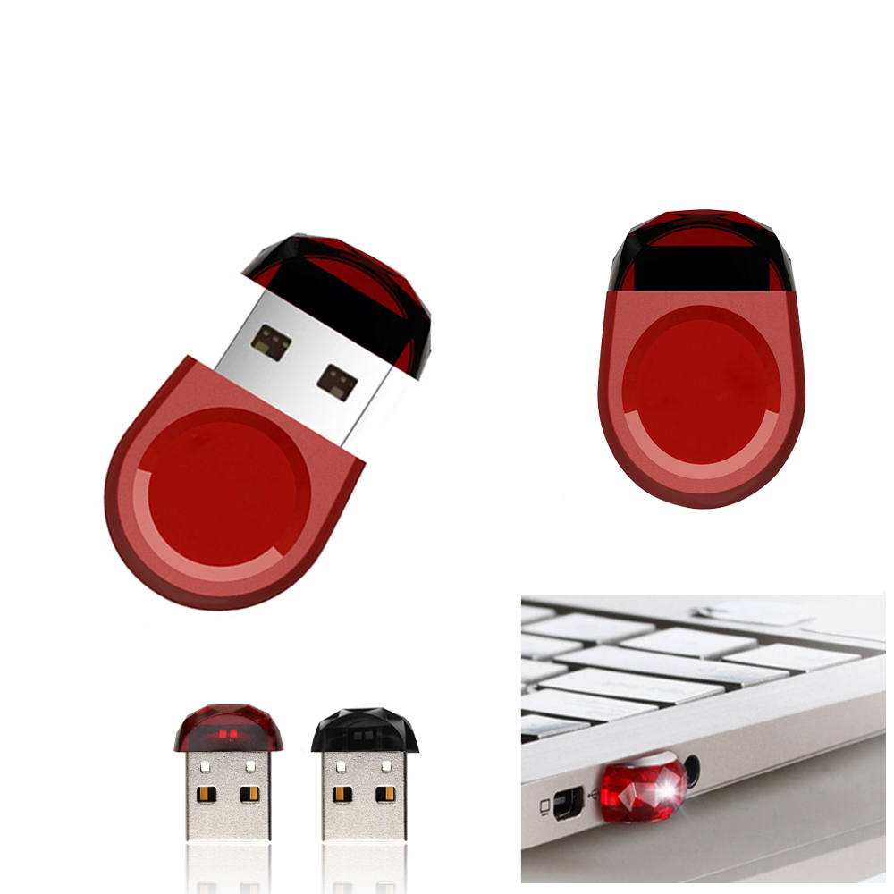 цена на Pendrive 64GB Diamond USB Flash Drive Mini Black USB Flash Drive 4GB 8GB 16GB 32GB USB 2.0 Pen Drive Mini U Disk Memory Stick