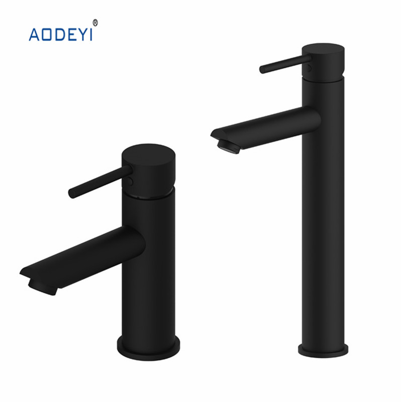 High Quality Bathroom Faucet Black Solid Brass Bathroom Solid Basin Faucet Cold and Hot Water Mixer Single Handle Tap bathroom brass water automatically sense faucet basin mixer hot and cold tap modern design high quality