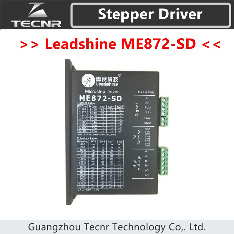 Leadshine ME872-SD Driver DC 18-80V For 2 Phase Nema34 Stepper Motor leadshine am882 stepper drive stepping motor driver 80v 8 2a with sensorless detection