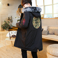 2017 Hot Sale Winter Jacket Men Chaquetas Hombre The Winter Wind Chinese Code Pourpoint Dragon In Long Coat. Really Coat Man