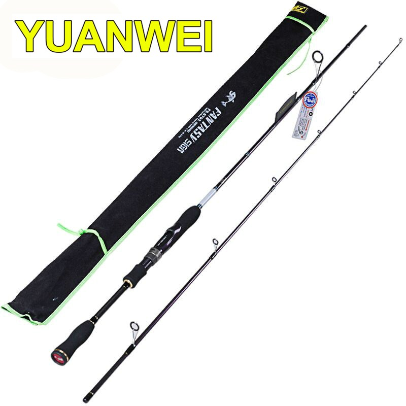 YUANWEI Spinning Fishing Rod 2 Section1.8m-2.4m Power ML/M/MH IM8 Carbon Lure Rods Vara De Pesca Canne A Peche Fishing Tackle tsurinoya 2 01m 2 13m proflex ii spinning fishing rod 2 section ml m power lure rod vara de pesca saltwater fishing tackle