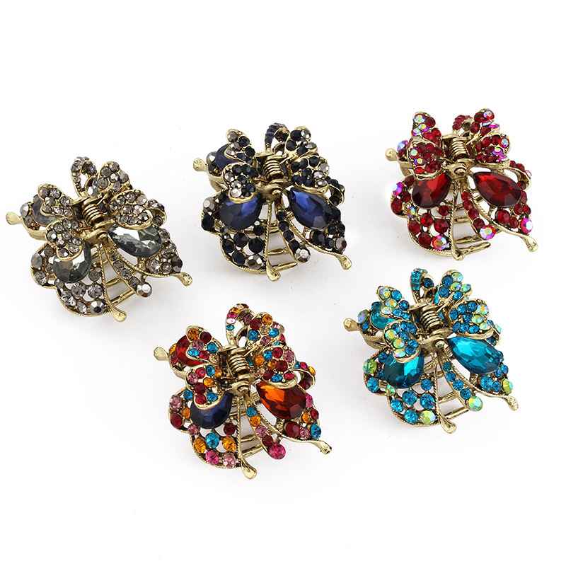 Wholesale 3Pc Seconds Sale Women Hair Claws Alloy Hair Clip Rhinestone Butterfly Hair Pins and Clips Hair Accesssories for Women