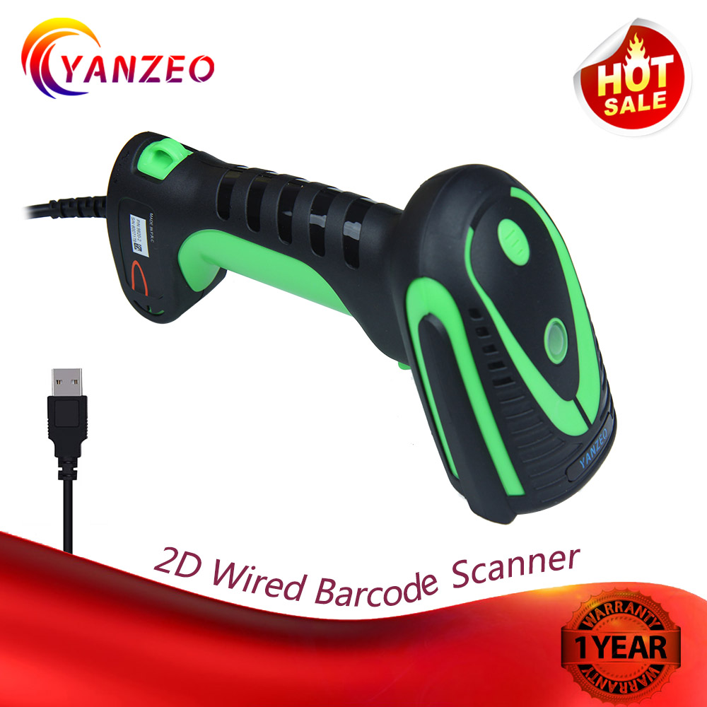 Yanzeo E9820 Industry Handheld 2D Imaging QR Barcode Scanner HD Bar Code Reader for Mobile Payment Computer Screen Scan in Printer Parts from Computer Office