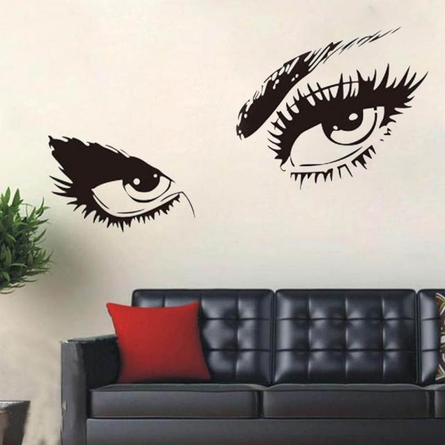 Superieur Sexy Eyes Wall Sticker Removable PVC Home Decor Black Large Wall Stickers  Art Mural Decals