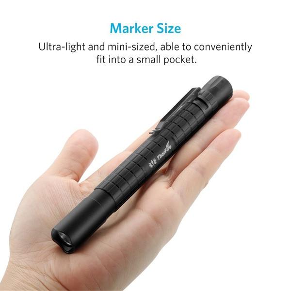 ThorFire PF02S Outdoor camping torch Led Pen Light LED flashlight 240 Lumen 2 AAA battery Portable waterproof mini Flashlight цена
