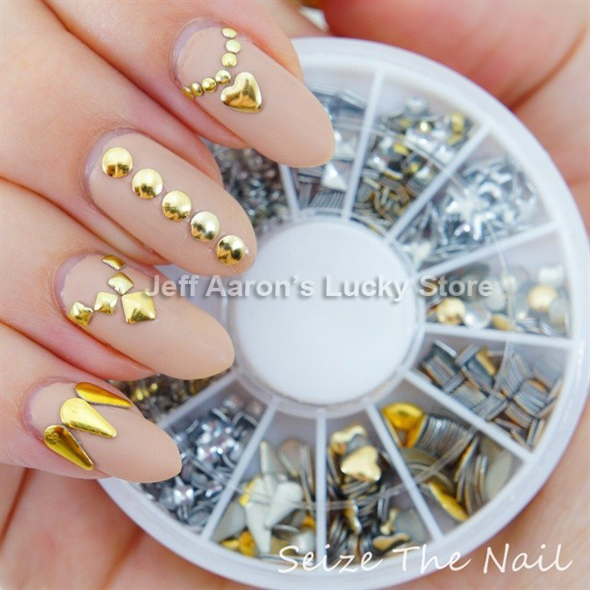 3d Acrylic Metal Nail Art Decoration Rhinestones Wheel Alloy Studs Cell Phone Accessories