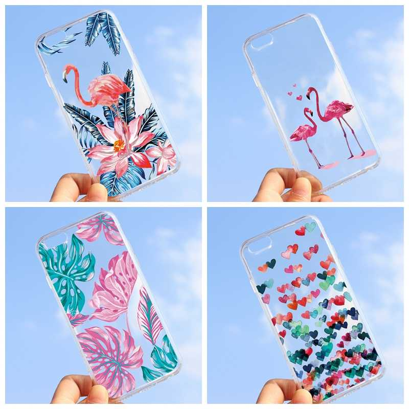 Cute Pattern Painted Case For iPhone X 6 6S 7 8 Plus Green Plant Cactus Printed Soft TPU Back Cover for iPhone 7 4 4S 5 5S SE