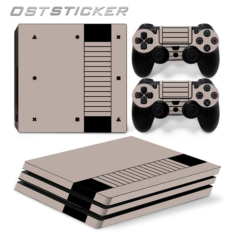 30% off OSTSTICKER 2D Cartoon For PS4 Pro Skin Sticker For Sony Playstation 4 Pro Console and 2Pcs Controller Protect Cover