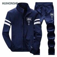 New High Men's Tracksuit Warm Sportwear Set Men Cardigan Printed Track suits Track Suit M 4XL Male Black blue Casual Sweatshirt