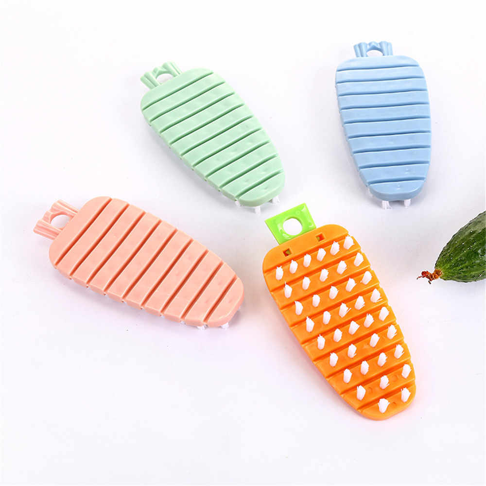New silicone dishwashing sponge scrubber hot cleaning cooking concept kitchen fruit and vegetable brush vegetarian scrubber