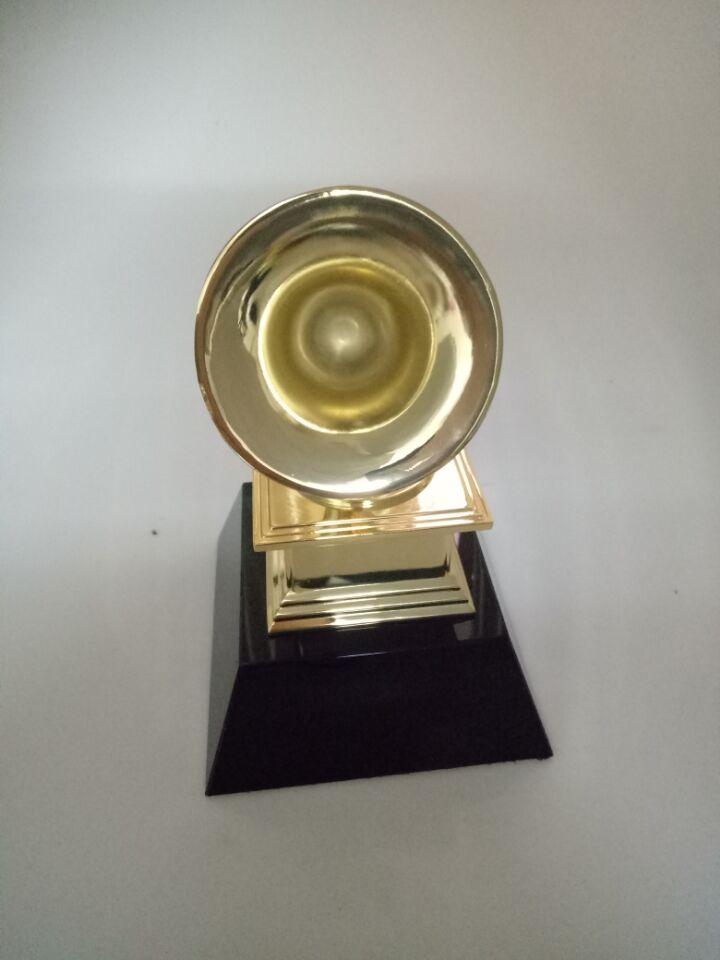 23cm 1:1 real life size Replica Grammy Trophy Zinc ALLOY Metal trophy w/ black Crystal base Music Souvenirs Award trophy