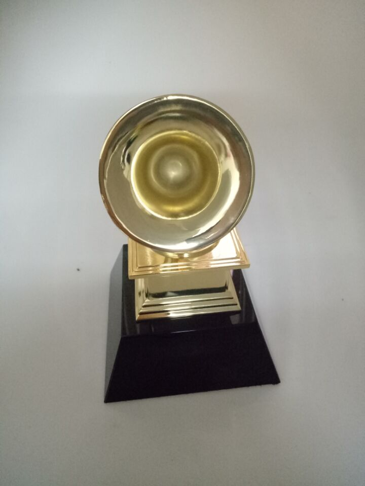 23cm 1:1 real life size Replica Grammy Trophy Zinc ALLOY Metal trophy w/ black Crystal base Music Souvenirs Award
