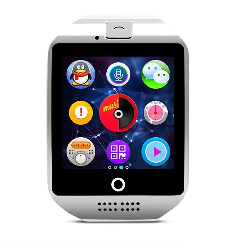 imágenes para Elegante Reloj Teléfono Bluetooth Cámara de Pantalla Táctil Reloj Q18 Moda Smartwatch Para Android iOS Reloj Desgaste para Los Hombres Hiwego Marca