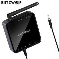 BlitzWolf BW-BR4 V5.0 Беспроводной bluetooth 2 в 1 приемник передатчик aptX HD Музыка Аудио адаптер 3,5 мм Aux для Динамик ТВ MP3