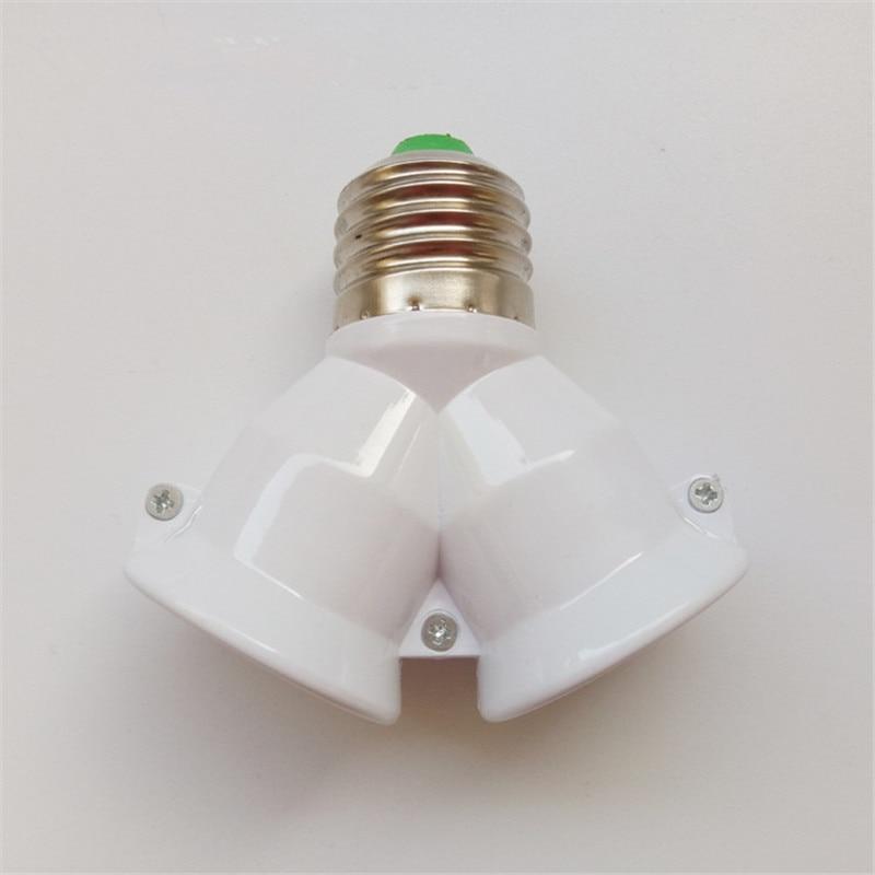 Высокое качество E27 к 2E27 адаптер E27 разветвитель цоколь патрон лампы конвертер адаптер питания светодиодный светильник лампа удлинитель