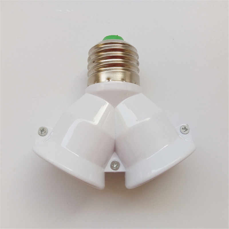 2 in 1 E27 Lamp Holder e27 Bulb Holder Lamp Socket Splitter Adapter Light Base for LED Bulb