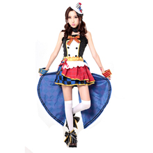 Hot Japanese Anime LoveLive Cosplay Maid Awakening Love Live Nico Yazawa Cosplay Costume dress Full Set все цены