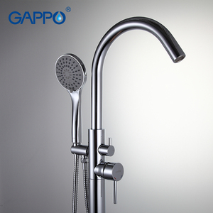 Image 2 - GAPPO Bathtub Faucets bathroom taps Brass Floor Stand bathtub mixer bath mixer sink faucet waterfall faucet shower system