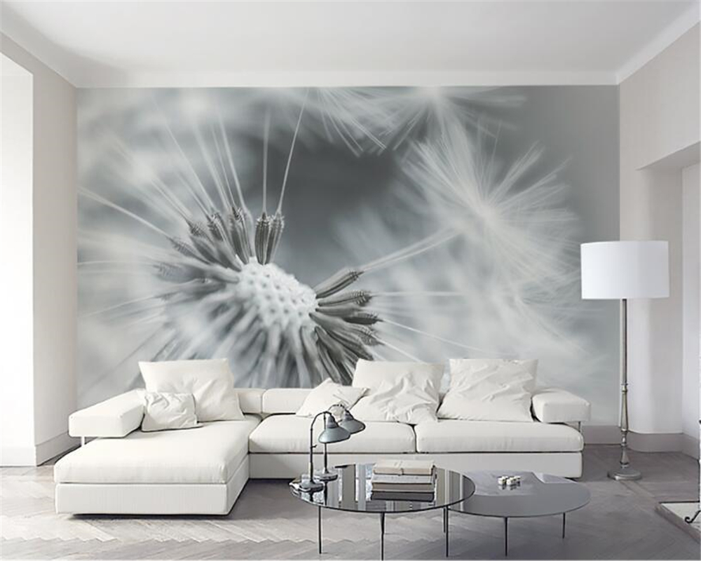 Beibehang Custom 3d Wall Paper Modern Style Dandelion Living Room Sofa TV Background Wall Wall Paper Home Decor Painting Mural