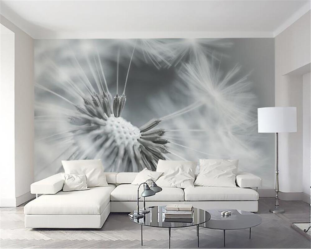 Beibehang Custom 3d wall paper modern style dandelion living room sofa TV background home decor painting mural