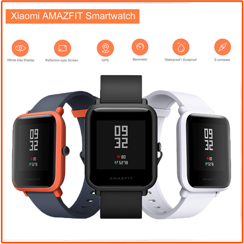 Xiaomi Huami Amazfit Bip Smart Watch English Version GPS Gloness Smartwatch Heart Rate Monitor Smart-watch for Phone MI8 IOS