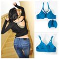 Front Closure Underwire Push Up Bra Top Comfort T-Back Racerback Bra 9 Colors Free Shipping