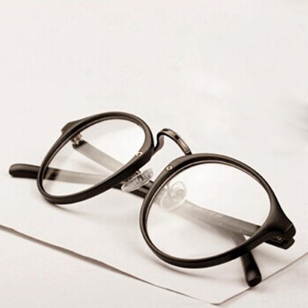 137 Retro Men Women Vintage Glasses Frame Plain Mirror Nerd Glasses Clear Lens Eyewear Glass Eyeglasses Spectacles