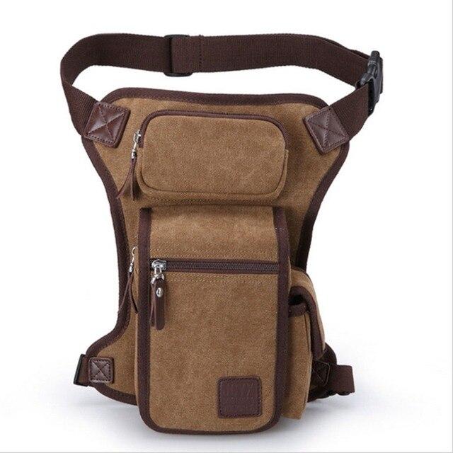 Novo saco do Mensageiro dos homens Da Lona Militar Ombro Fanny Pack Cintura Coxa Perna Queda Saco