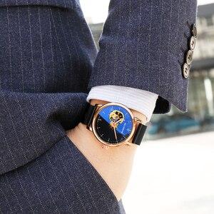 Image 3 - Reloj Hombre Orologi Automatici Mens di Sport di Modo di Maglia di Acciaio Inossidabile Della Fascia di Scheletro Meccanico Orologi da Polso Orologio da Polso per Gli Uomini