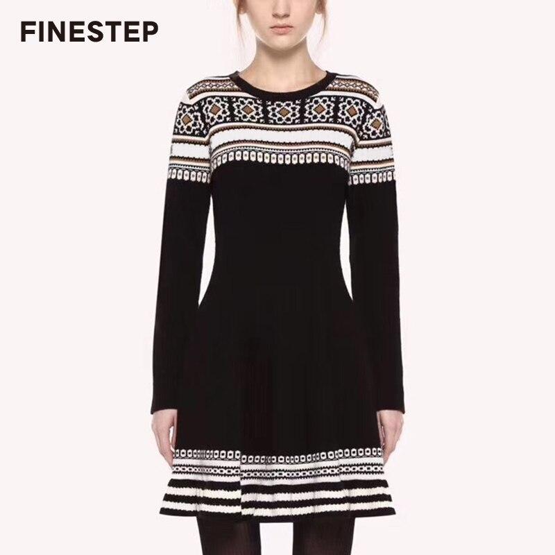Женское шерстяное платье свитер на осень зиму, платье свитер белого и черного цвета, Повседневное платье свитер