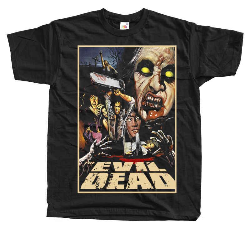 Зловещие мертвецы V6 фильм ужасов черная футболка все размеры S 3XL Футболка с