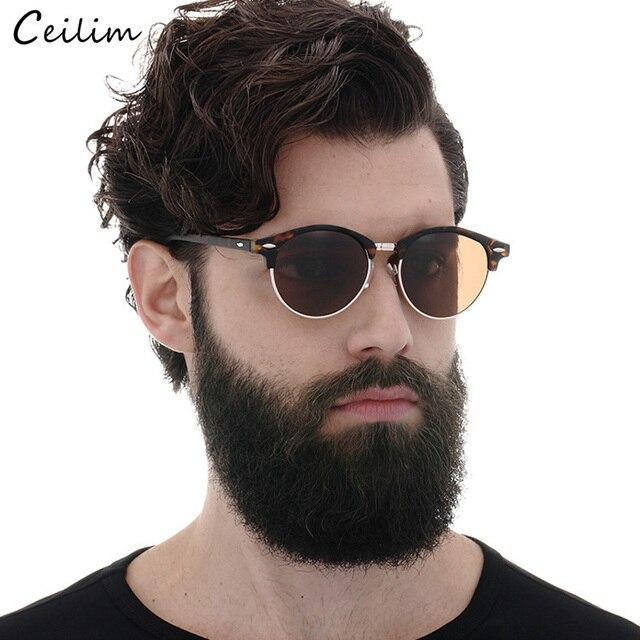 1b73d34949 Gafas de sol de moda para hombre 2019 nuevas gafas de sol redondas de lujo  marca