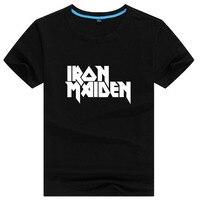 Iron Maiden Mens Letter Print T Shirt Swag Skateboard Street Hip Hop Male Printed Tshirt Man
