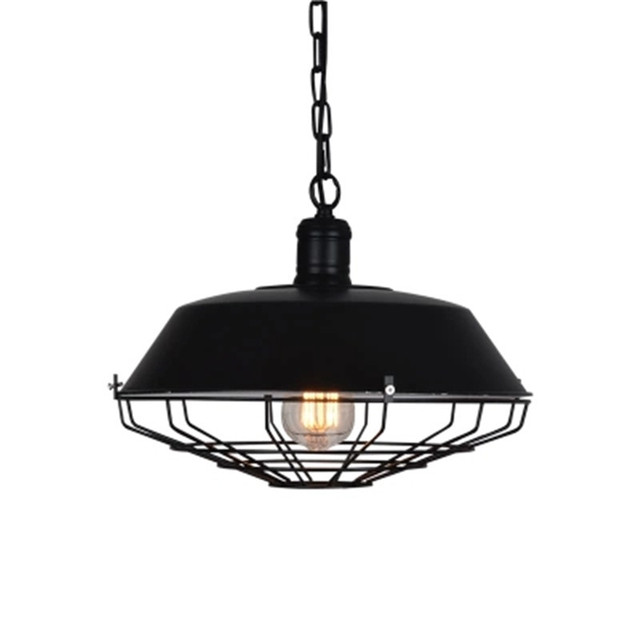 Vintage Retro Chandeliers Lamp 36cm 46cm Metal Pendant Lampshade Warehouse Garage Style Lighting Light Fixture