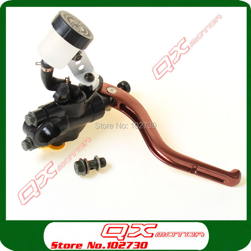 Front Brake Master Cylinder Lever For 110 125 150 250cc Dirt Pit Bike ATV Quad Scooter Motorcycle Modify Right Brake Pump motorcycle cm 125 front wheel brake cylinder disc brake pump assy motorbike up pump brake level for honda cm125 cm 125