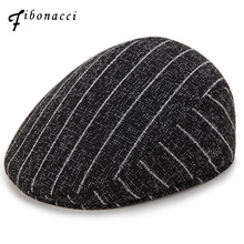 Fibonacci 2018 New Spring Summer Newsboy Cap Middle Aged and Old Man Vintage Beret Flat Hat