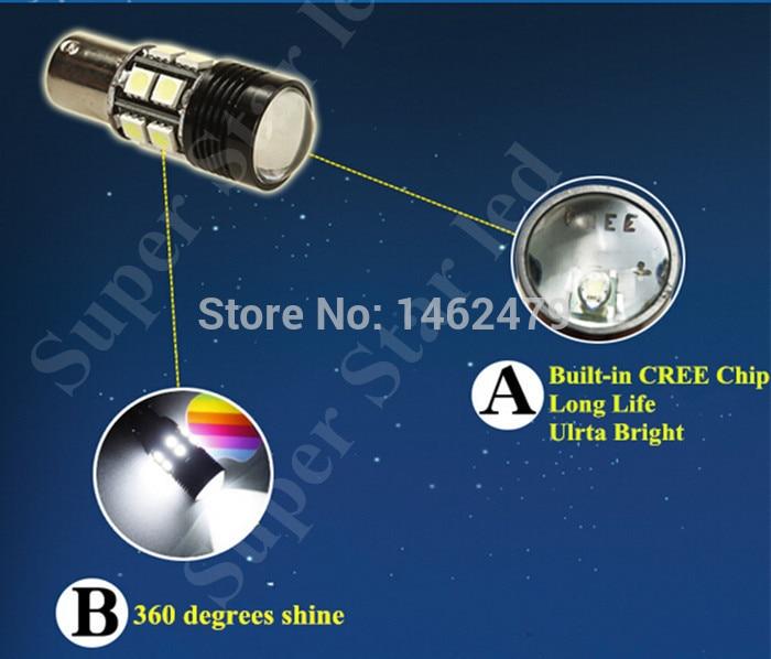 2 x Vit 6000K 1156 7506 P21w Canbu Inga fel Q5 Chips LED-glödlampor - Bilbelysning - Foto 2