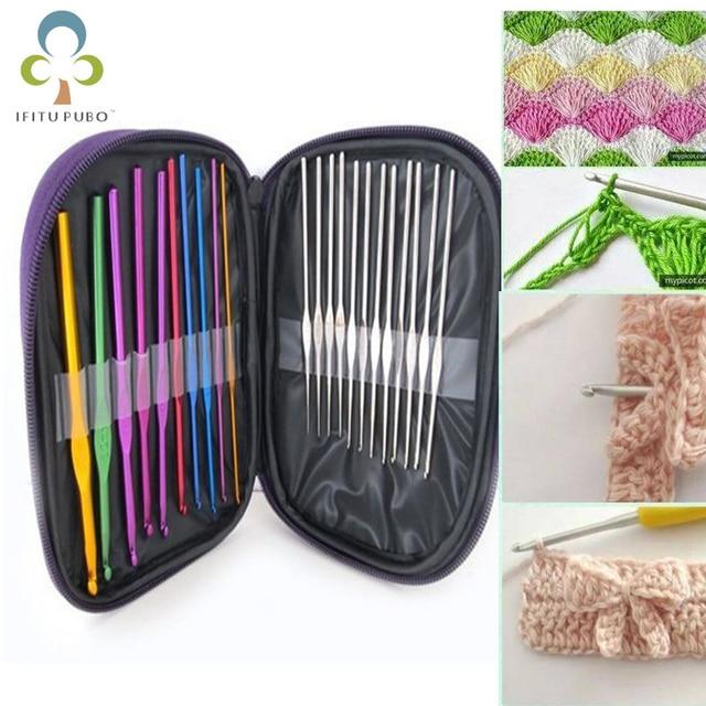 $ US $4.71 22pcs/set Hand Sewing Needles Knitting Needles Metal Crochet Sweater Needles Suit Stainless Steel Aluminum Crochet Set TDJ